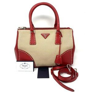 100% Auth Prada Galleria Crossbody HandBag